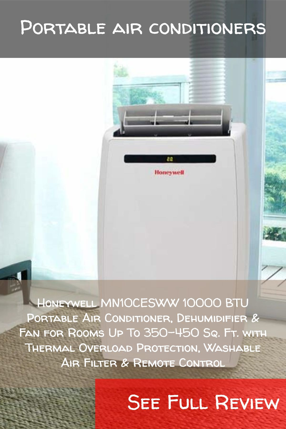 Portable air conditioners / Honeywell MN10CESWW 10000 BTU