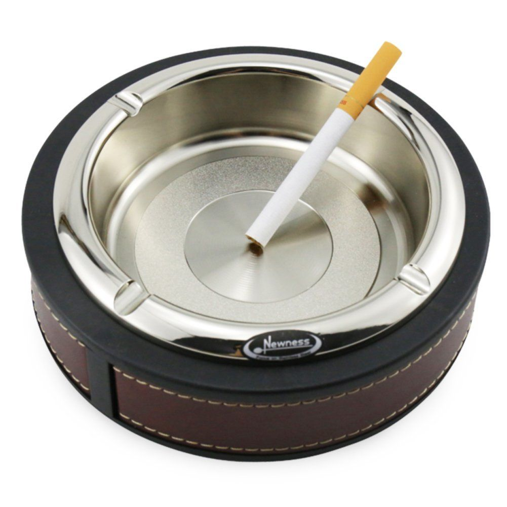 Upgrade] Ashtray, Newness Stainless Steel and Leather Ashtray ...