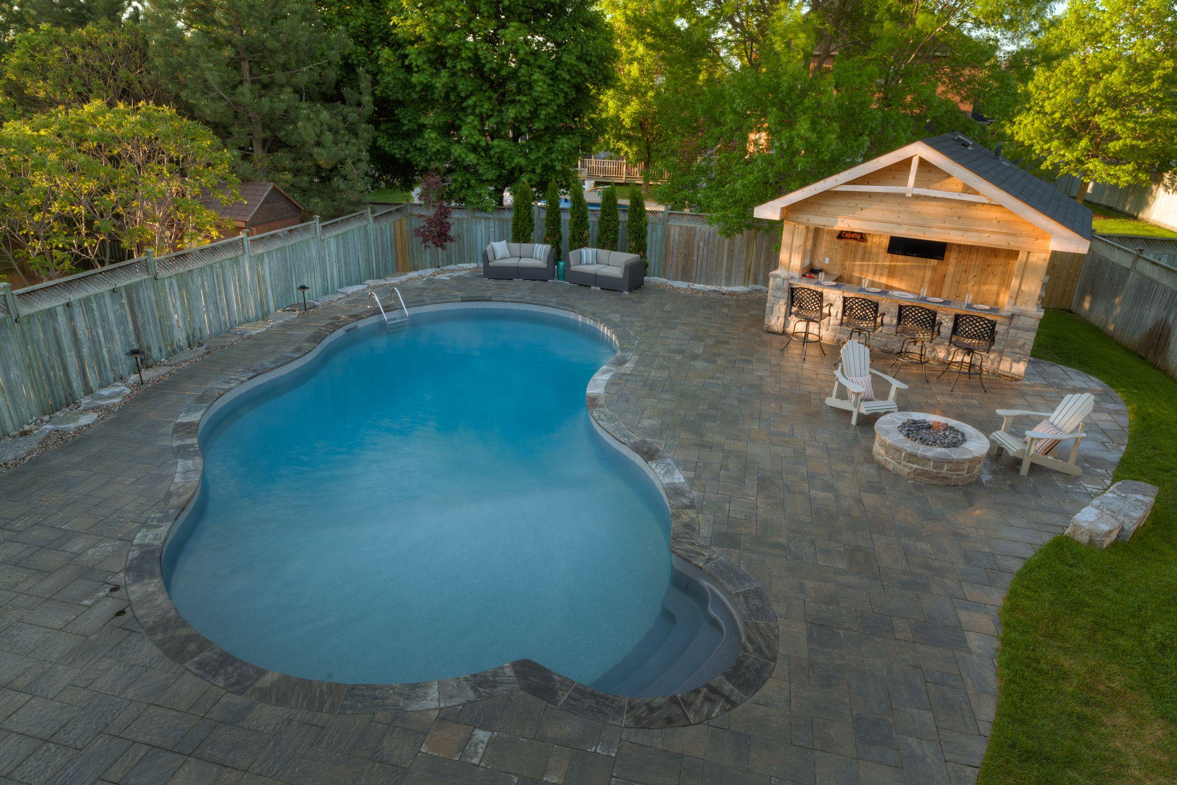 Beautiful Backyard Retreat Done By Pool Craft Wwwpoolcraftca