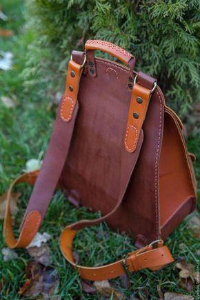 f90a142f4ac5 Купить или заказать Рюкзак кожаный в интернет-магазине на Ярмарке Мастеров. Кожаный  рюкзак выполнен в двух цветах кожи (возможы разные цветовые варианты, ...