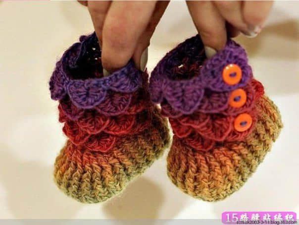 Patrones para hacer botines para bebe a crochet01 | Tejido ...