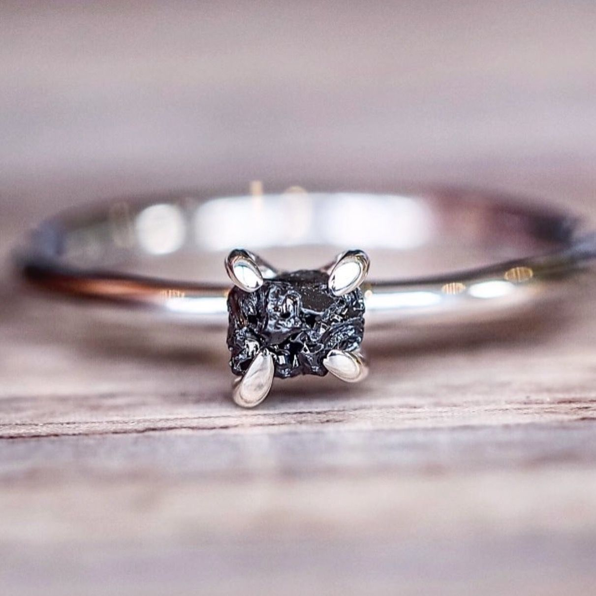 Raw Black Diamond Ring || Valentine\'s Day is coming guys and gals ...