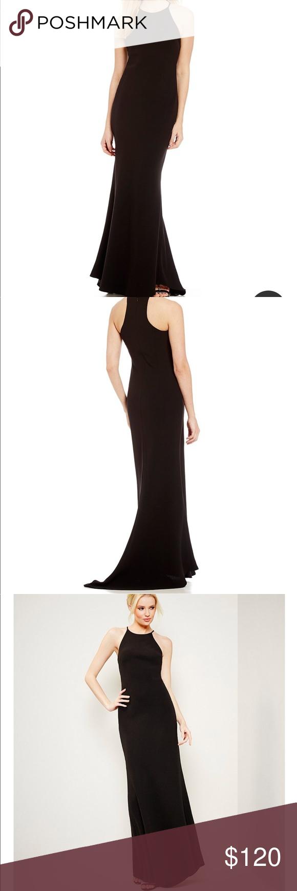 Calvin Klein Crepe Halter Gown In 2018 My Posh Closet Pinterest