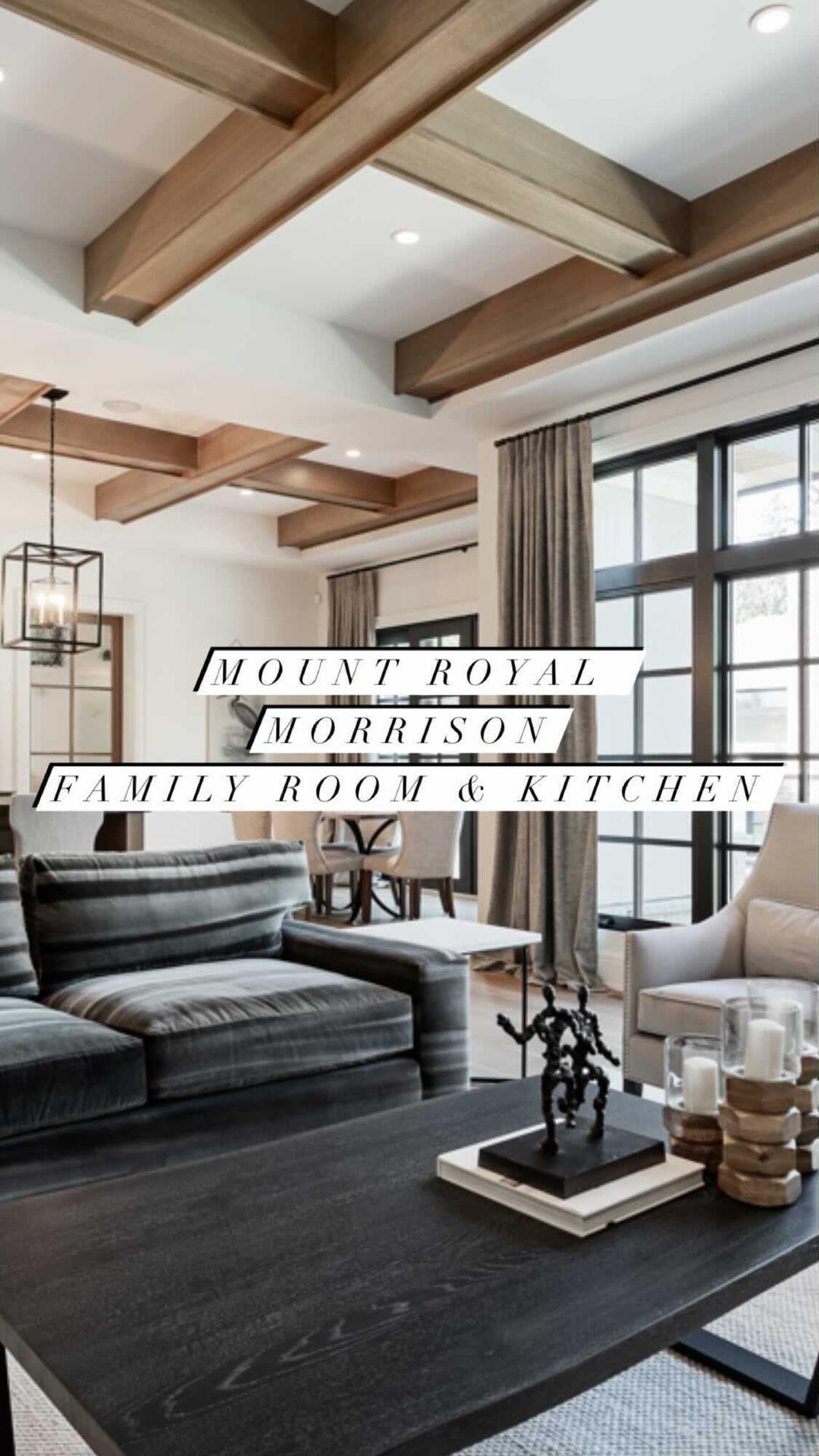 verandaestatehomes on Instagram: Dream home alert, those ceiling beams add so much to this home! #interiors #customhome #houseenvy #livingroom #livingroomdecor…