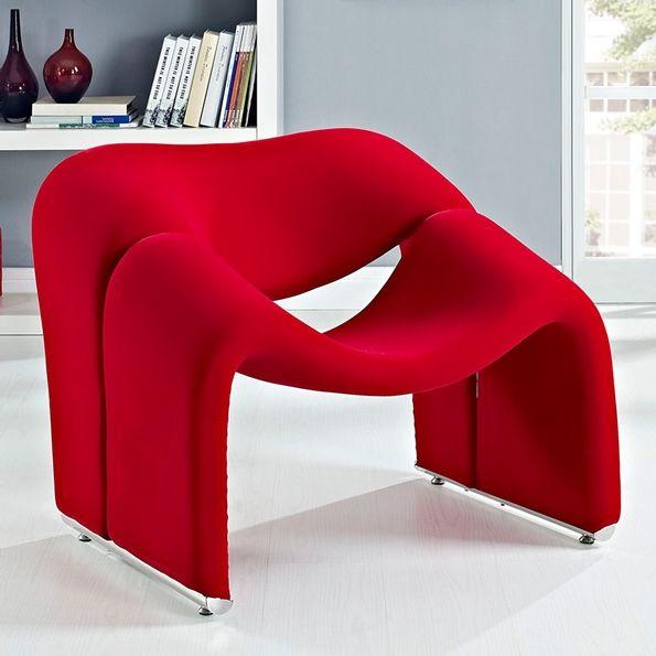 Crush Lounge Chair Red Modern Lounge Chairs Lounge Chair