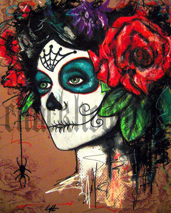 Print 8x10 - Day of the Dead Senorita 1 - portrait dia de los ...