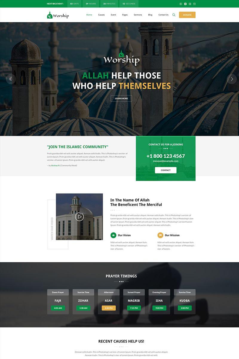 Worship Islamic Center Bootstrap Html Website Template Design