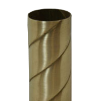 12 Foot Long Polished Brass Closet Rods Custom Brass Rope Twist