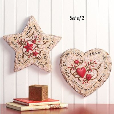 Hand painted country wall decor set of 2 from collections etc