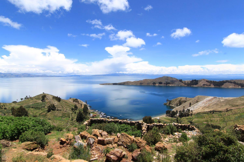 Isla del lago titicaca