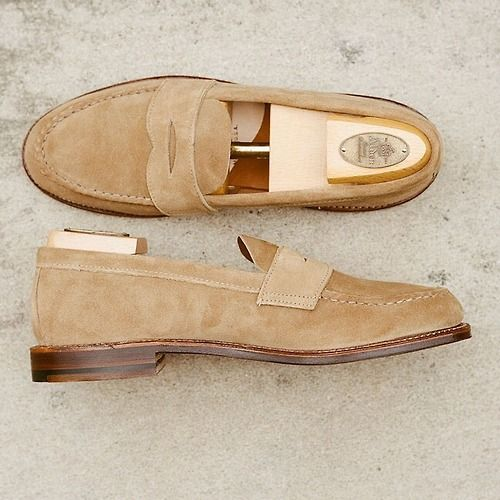 Alden LHS in sand suede. The perfect summer loafer.