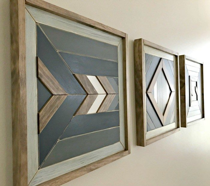 DIY Scrap Wood Wall Quilt Tutorial, with How-To Video | Esculturas ...