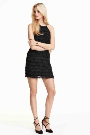 Petite robe noire a franges