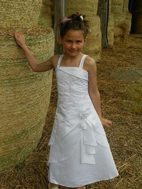 Robe blanche communion fille