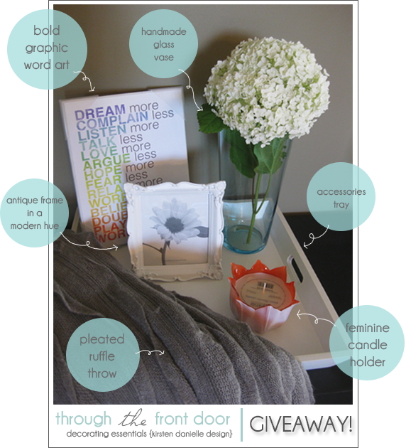 Decorating Essentials GIVEAWAY!  Enter today!  Ends July 1st at midnight