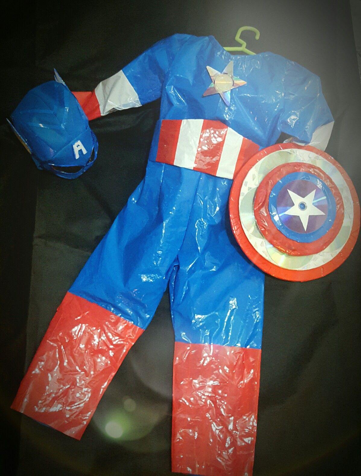 Disfraz de #capitanamerica - Disfraz con material ...