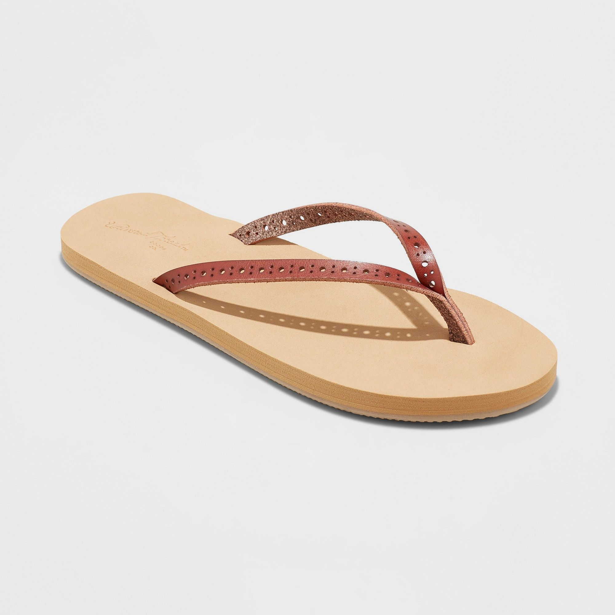 d0dadb64c Women s Demi Flip Flop Sandal - Universal Thread Brown 10