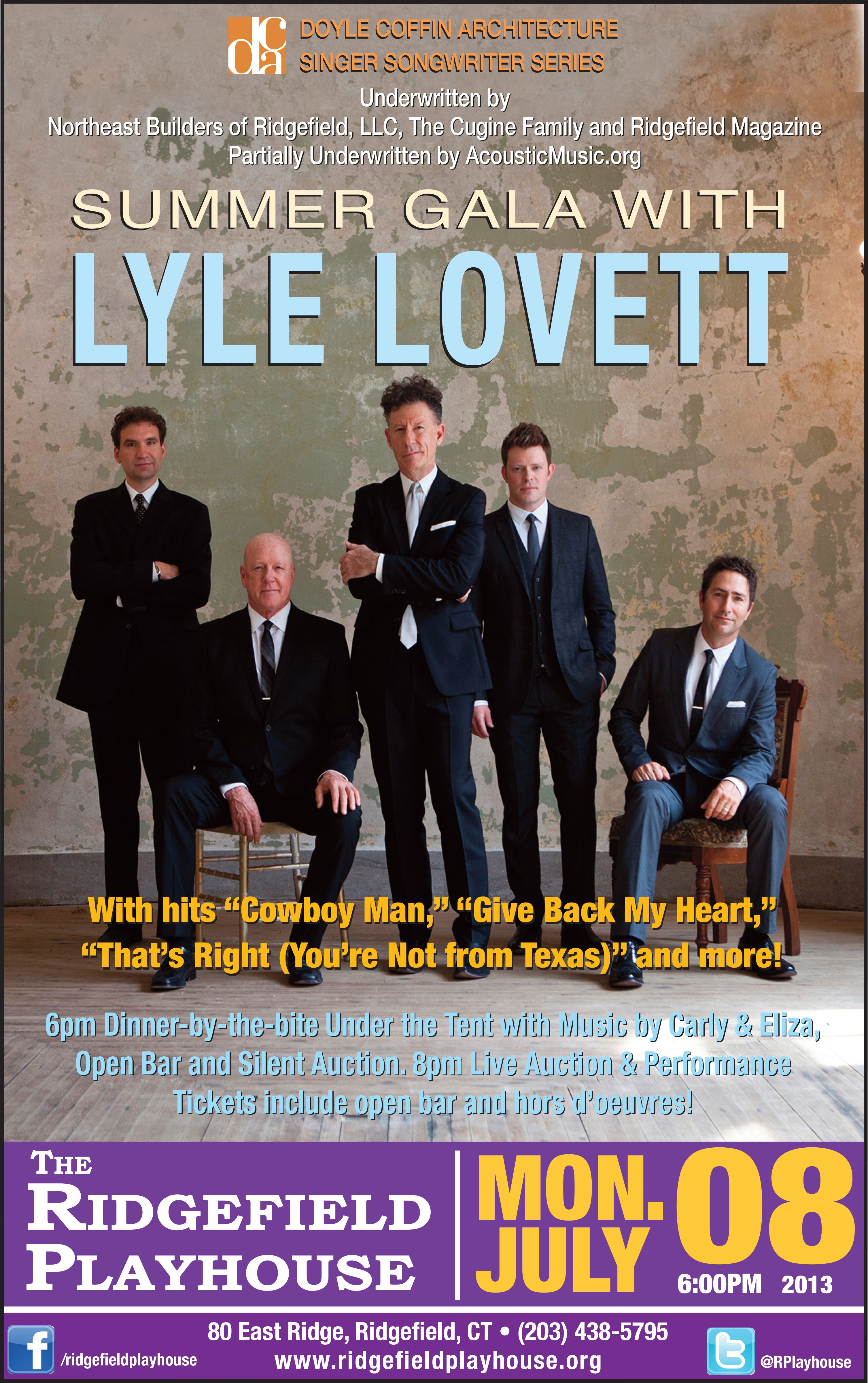 lyle lovett poster just saw this concert but it was in