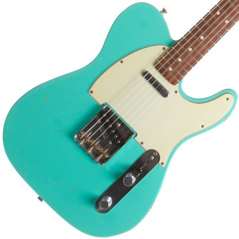 2002 Fender Custom Shop 1963 Telecaster Relic Sea Foam Green | Available at Garrett Park Guitars | www.gpguitars.com