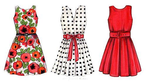 Sketch of dresses.