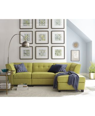 Harper Fabric Modular Collection Created For Macy's  Furniture Enchanting Modular Living Room Design Decorating Inspiration