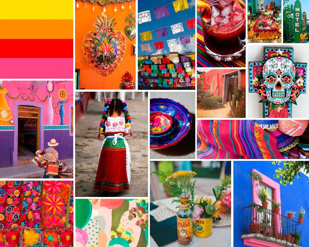 Hooray Magazine Mood Board Mexican Mexican Bright