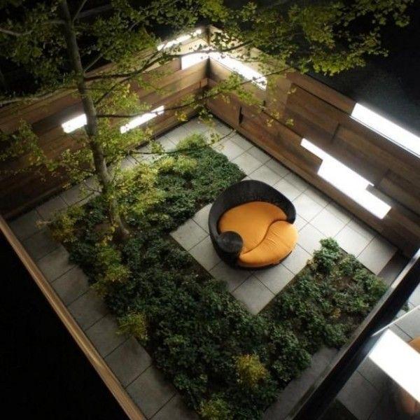 feng-shui garten-design liegesofa-blumenbeet-terrasse sichtschutz, Garten Ideen