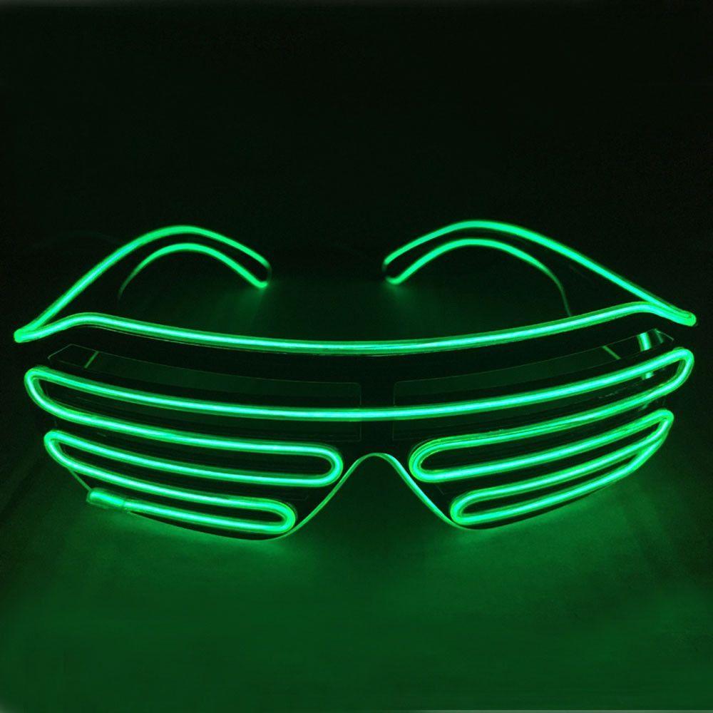 Glow in the dark sunglasses led lights green shutters