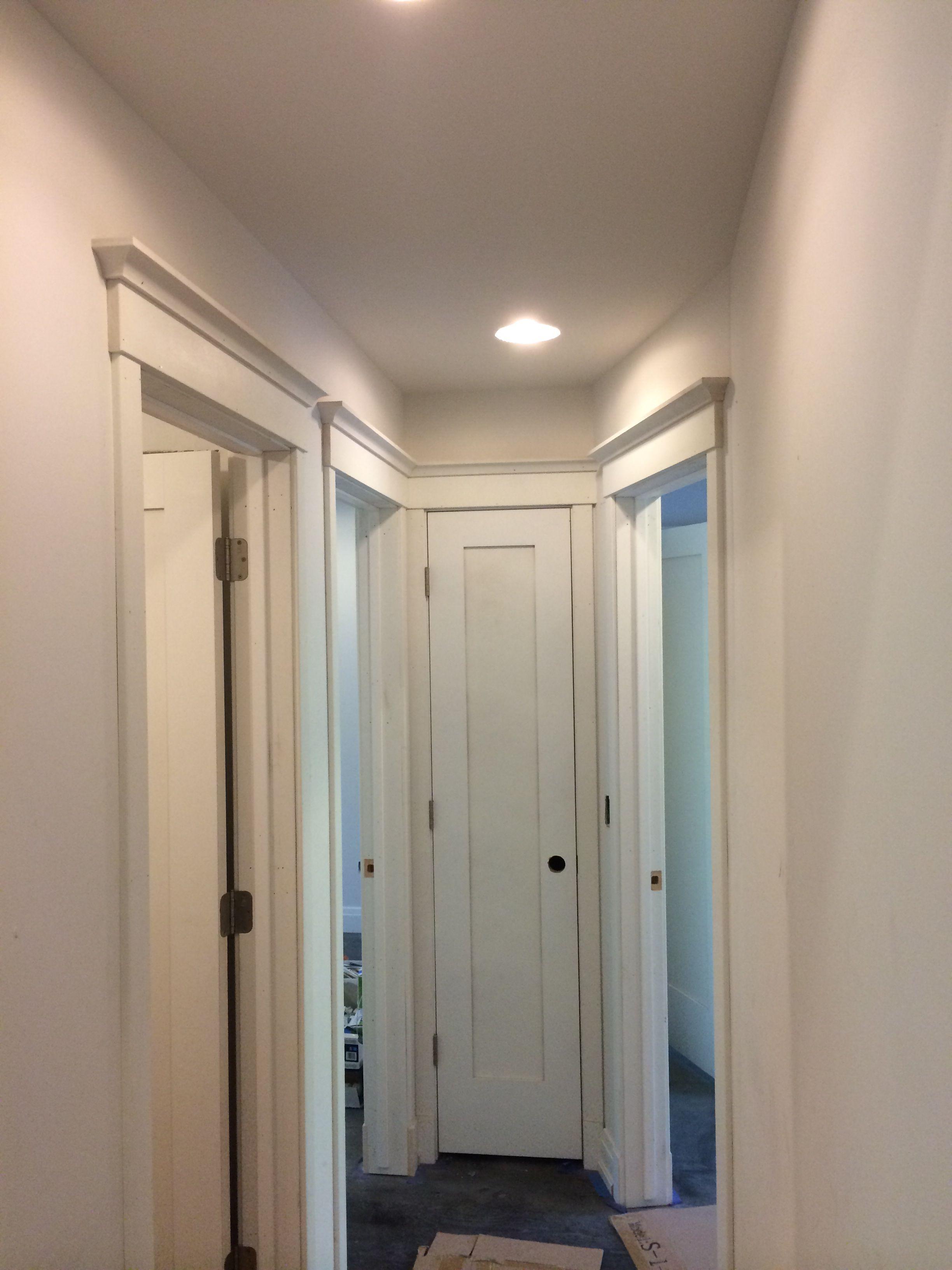 A little molding magic !! | Bathtub, Molding, Bathroom