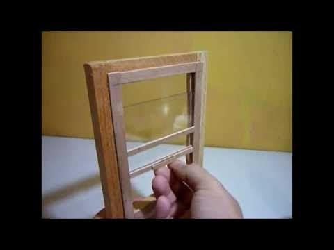 como hacer una ventana corrediza para casas de muecas youtube