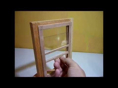 Como hacer una ventana corrediza para casas de mu ecas - Como hacer casa de madera ...