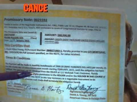 how to pay off car with promissory note