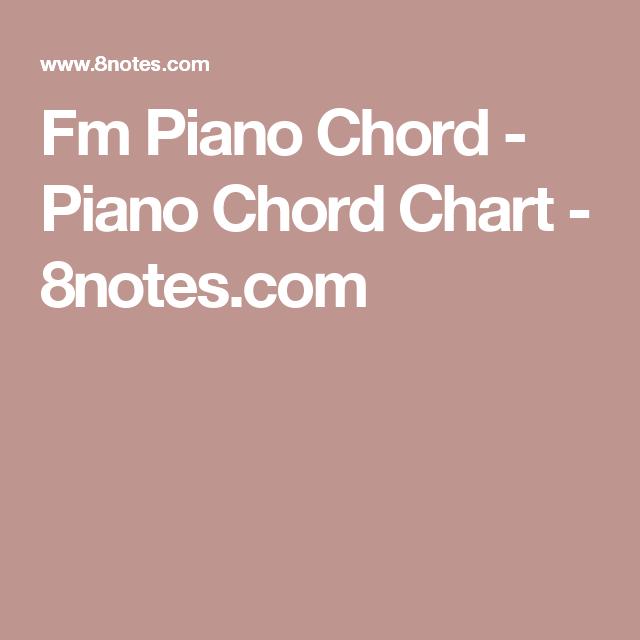 Fm Piano Chord Piano Chord Chart 8notes Piano Pinterest