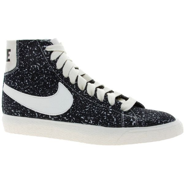 nike blazer decon cvs mid black high top trainers womens