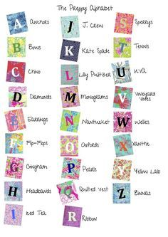 The Preppy Alphabet