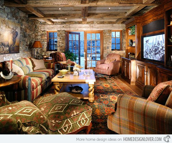 Creating A Rustic Living Room Decor: 16 Awesome Western Living Room Decors