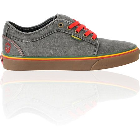 Vans Chukka Low Spitfire x Cardiel Hemp Rasta Skate Shoes
