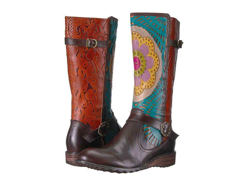Lartiste by spring step halvod womens shoes dark brown