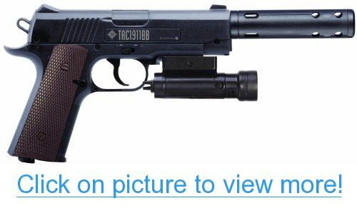 Crosman 1911 Tactical BB Air Pistol with Mock Silencer and