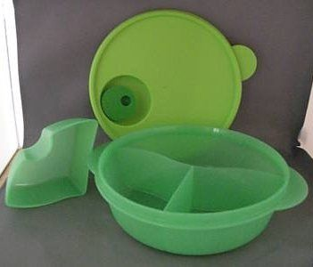 Tupperware CrystalWave Lunch n Dish with Cold Cup  ~ Used frequently when taking a small lunch to my elderly Mother.
