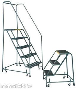 You Are Buying One 24 Wide Step Ballymore Standard Rolling Ladder With Spring Loaded Casters Mounted On Four S Spring Loaded Casters Rolling Ladder Ladder
