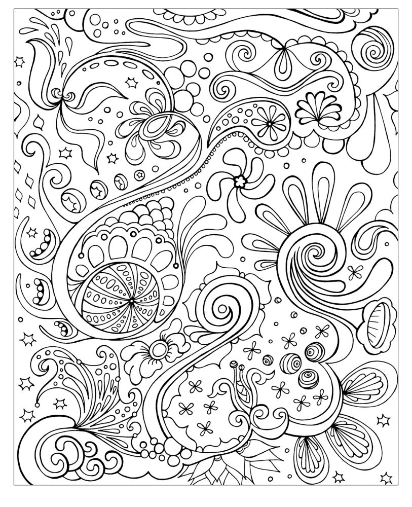 advanced floral doodle intricate design coloring pages for adults ...