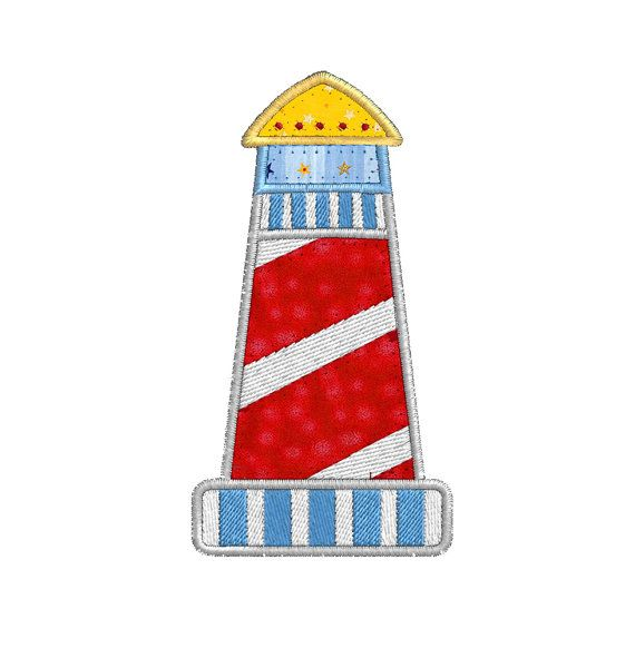 Boat Lighthouse APPLIQUE Machine Embroidery by SewWithLisaB