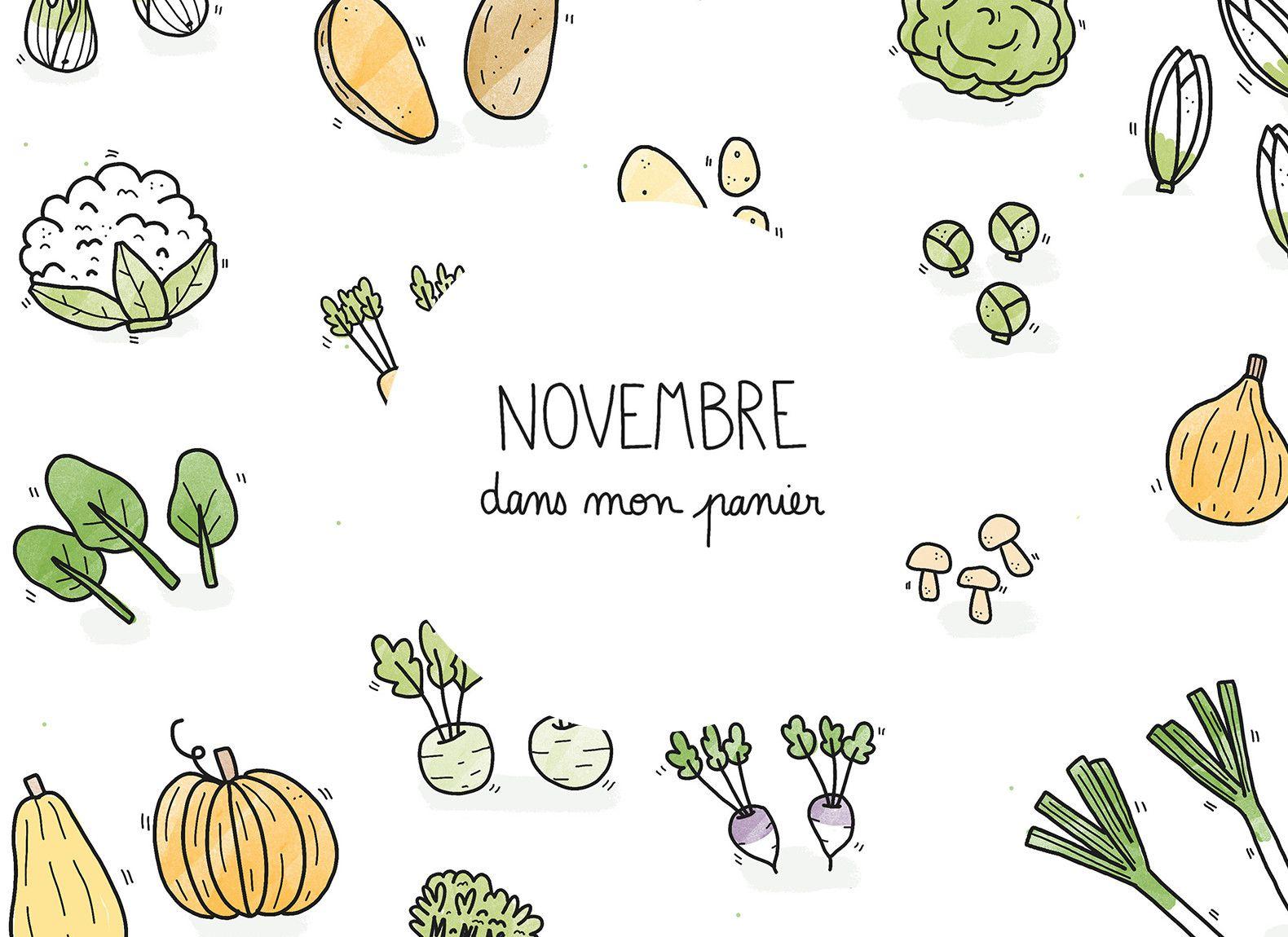 Fruits & légumes de saison Novembre (avec images