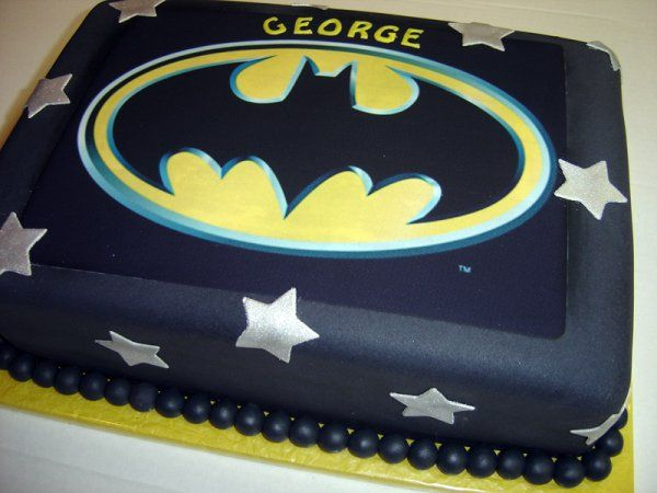 Pin Batman Cakes Walmart Cake On Pinterest