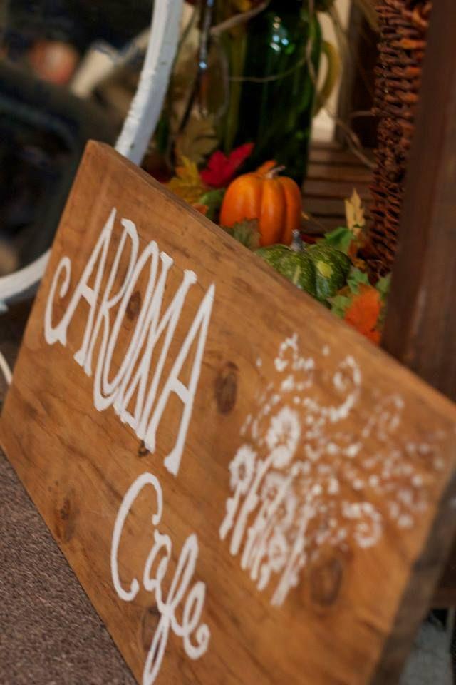 Homemade Coffee Bar Sign .