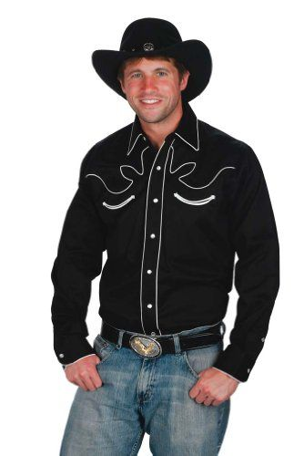 MEN/'s Rodeo Cowboy Western Camicia CHECK Costume