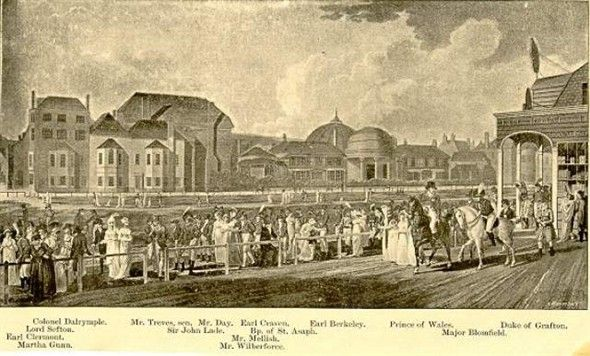 Brighton Race Course 1805 Painting Showing The Race Course On