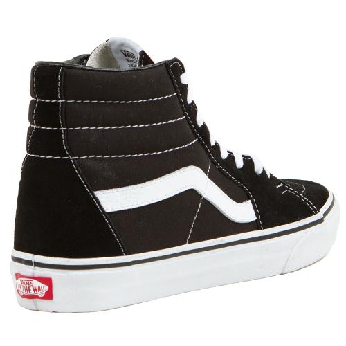 Vans Sk8-Hi - Zapatillas de skateboarding de ante para hombre, color Negro (Schwarz/Wei?), talla 38