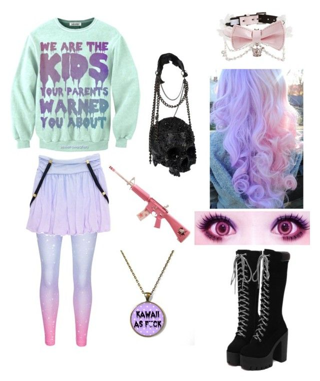 """""""my item tag"""" by pastel-goth-for-life ❤ liked on Polyvore featuring beauty, cutekawaii and Hello Kitty"""